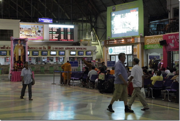 Easy Train booking experience in thailand