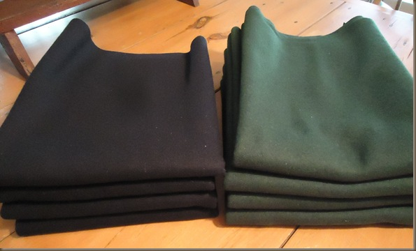 Navy Green Wool