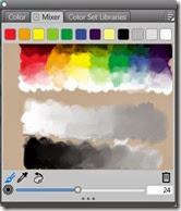 Corel painter view of colour pallette