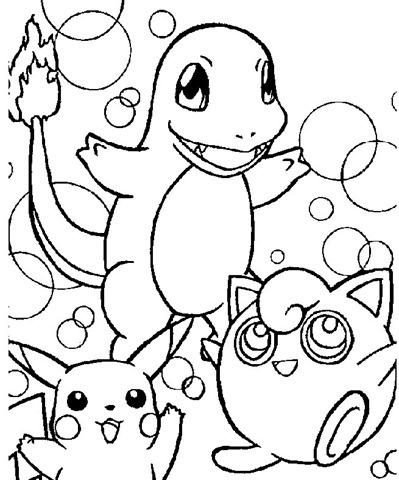 10 pokemons para colorir ou pintar desenhos e riscos