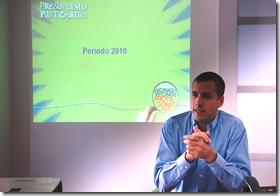 Juan Pablo de Jesús presentando las obras del año 2010