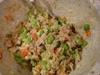 Tuna salad mix without the eggs.