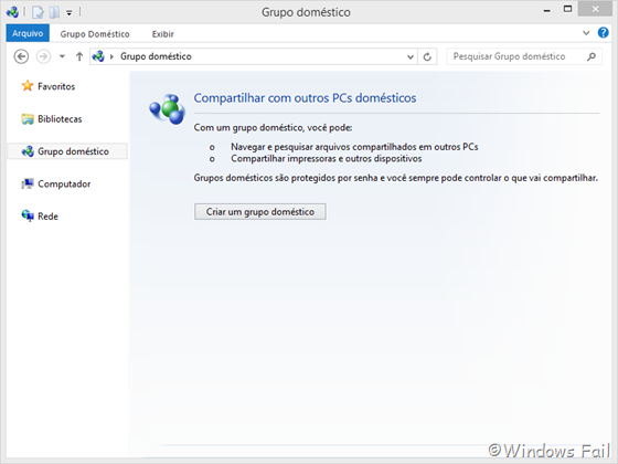 Grupo Doméstico - Windows 8
