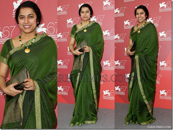 Suhasini_Green_Crepe_Saree