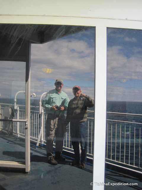 Russ and Frank at sea (reflection)