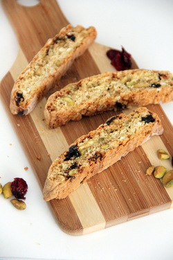 Pistachio & Dried Cherry Biscotti