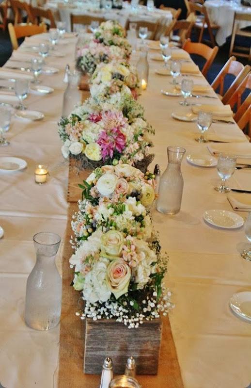 bouquets as centerpieces 539104_10151933009378413_131156870_n la petite fleur