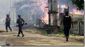 Burma sectarian violence military