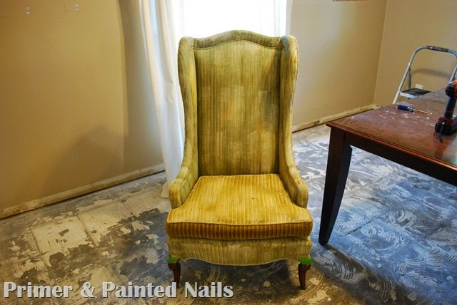 Tall Wingbacks Paint Fail - Primer & Painted Nails (2)