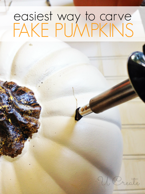 Easiest way to carve fake pumpkins!