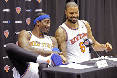 nike zoom soldier 7 pe amare stoudemire knicks 1 03 Amare Stoudemire Wears 1 of his 3 Soldier VII New York Knicks PEs