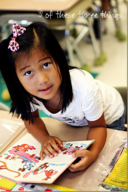 Syd at school with books blog