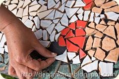 Остатки керамической плитки в декоре интерьера 1