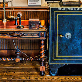Wells Fargo office by Izzy Kapetanovic - Artistic Objects Antiques ( safe, phone, scales, arizona, wells fargo museum, phoenix, antiques )