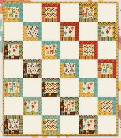 giraffe crossing quilt pattern