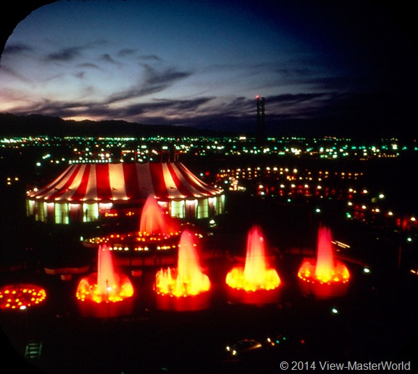 View-Master Las Vegas Nevada A159 Scene 2-1 Circus Circus at night