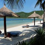 Strand ved Vinpearl island. Mmmm det kunne man godt vende sig til!