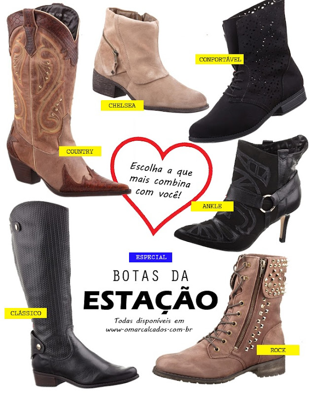 botas femininas da moda estacao - modelos