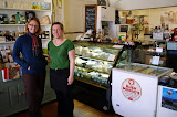 North Island - Petone - Cultured Cheese and Coffee shop - Steph and Wendy