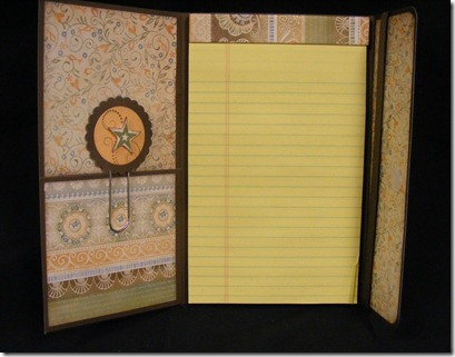 Florentine notepad - inside