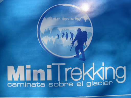 Sign for MiniTrekking on the Perito Moreno Glacier.