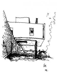 croquis-casa-contemporanea