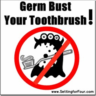 How to Clean  Your Tooth Brush from Setting for Four #clean #tip #toothbrush