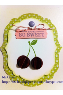Sweet Cake handmade card by Ida Chan, Stampin' Up! Demonstrator, Vancouver