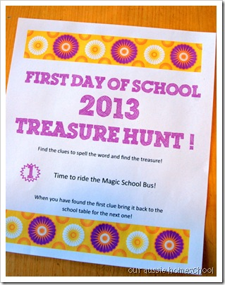Treasure Hunt 2013 ~ Our Aussie Homeschool