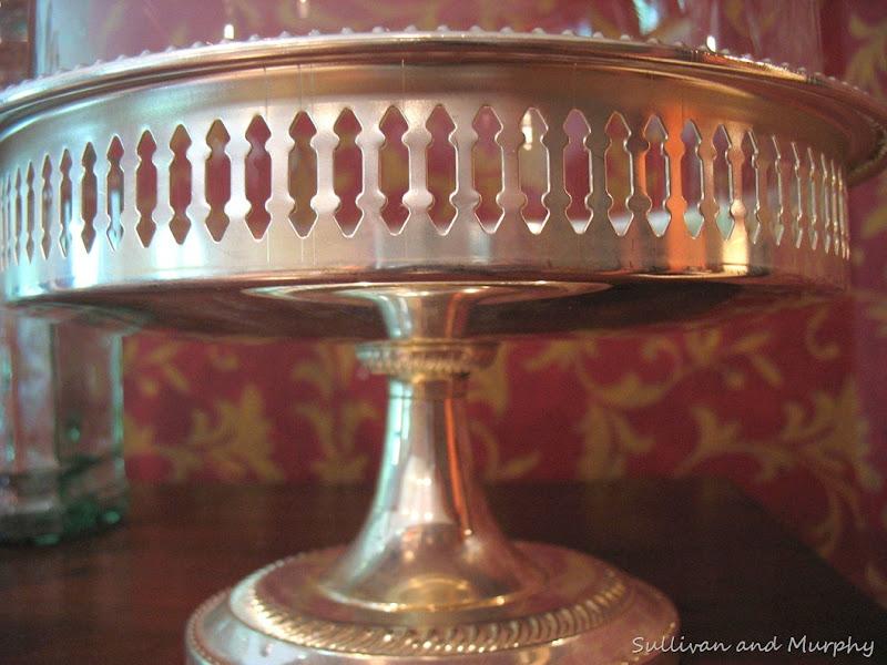 silver  cloche holder