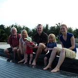 Hele familien ved et springvand i Nha Trang.