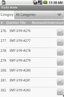 Screenshot of NREMT EMT I-99 Exam Prep