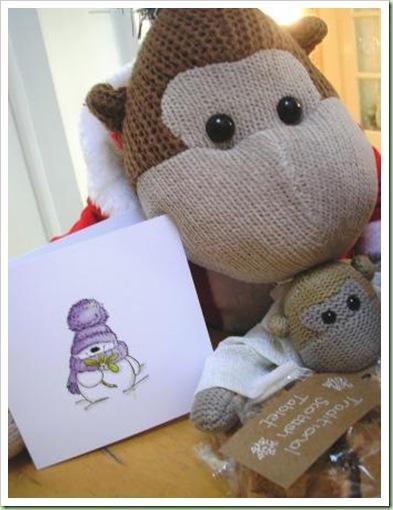 Miseltoe snowman card