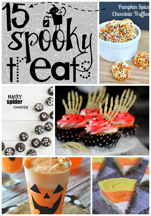 15 Spooky Treats at GingerSnapCrafts.com #Halloween #treats #linkparty #features