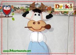 Porta pano de prato de vaquinha miniatura