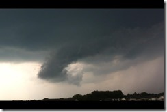 Shelf cloud segment over Mechanicville, May 29, 2012