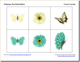 butterflies color cards 1