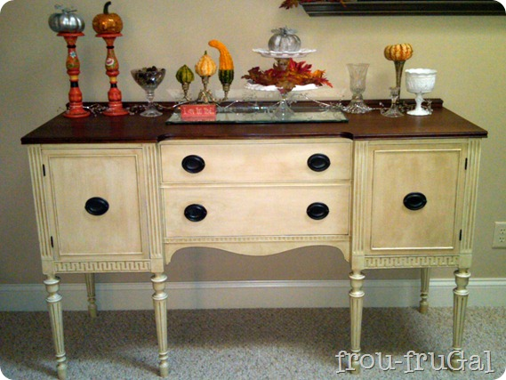 $25 Craigslist Buffet Makeover