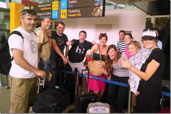Bali airport reunion