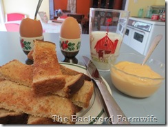 soft boiled eggs - The Backyard Farmwife
