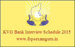 KVG Bank Officer & Assistant Interview Schedule 2015