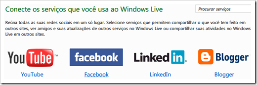 Conecte Facebook ao Windows Live