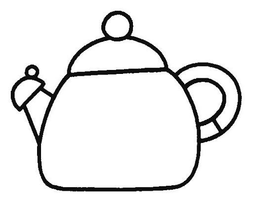Dibujos para colorear teteras - Dibujos de cocina para pintar ...