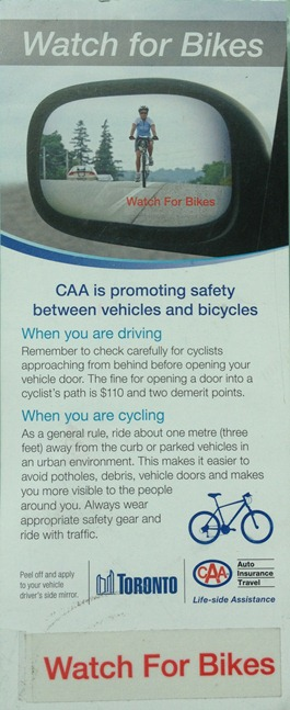 CAA Watch For Bikes Initiative
