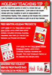Winter Holidays Tips and Free Teacher Resources E-Book from the Teacher Authors at Teachers Pay Teachers
