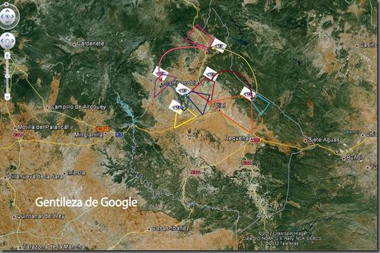 mapa de las visitas para observacion