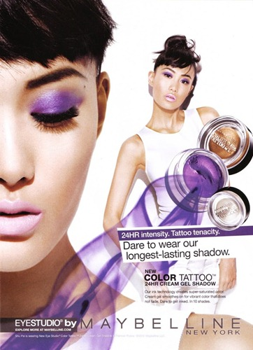 Shu Pei - Maybelline Color Tattoo Fall Winter 2012