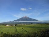 Kerinci seen from the Gn Tujuh trailhead (Dan Quinn, May 2013)