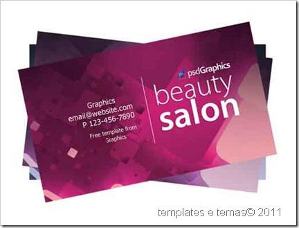 Modelo de cartão de visita para salão de beleza