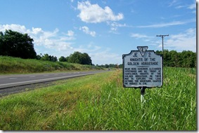 Knights Of The Golden Horseshoe  Marker JE-2 on U.S. Route 15